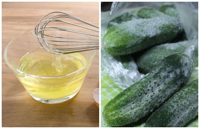 Храните огурцы в открытом пакете, не обмазывайте яичными беками и не замораживайте