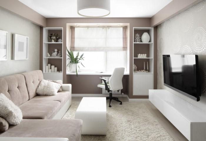 Белые и пастельные оттенки лучше отражают свет / Фото: dizainexpert.ru