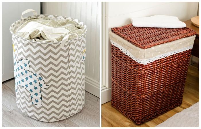 В коробах и корзинах удобно хранить одежду и мелкие бытовые предметы