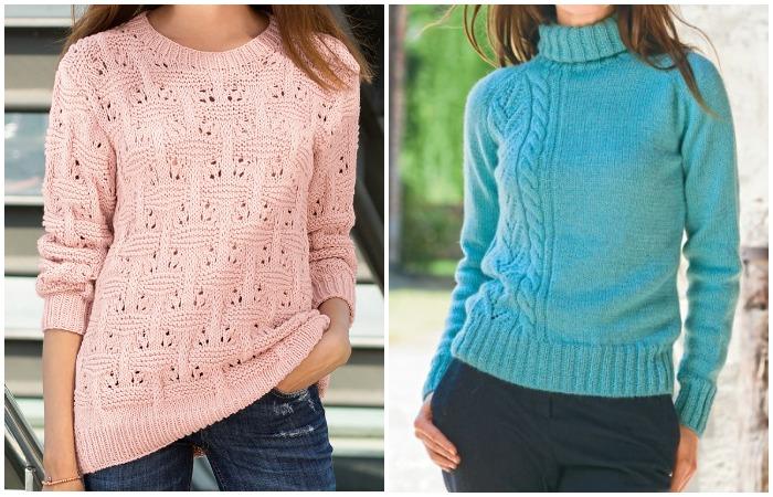 Все это - связанные из трикотажа или шерсти предметы одежды, но отличаются они по форме горловины