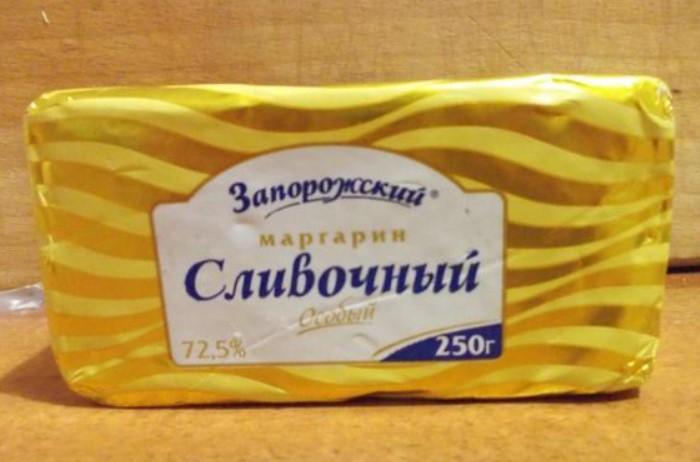 На четвертой ступеньке расположился маргарин с 745 калориями на 100 г / Фото: i6.otzovik.com