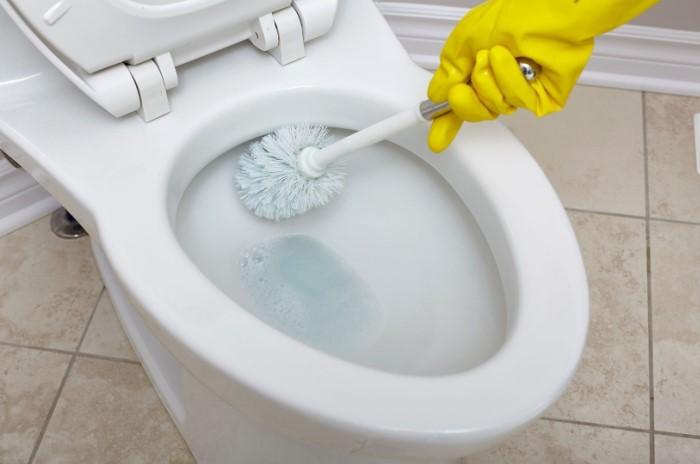 Регулярный уход за унитазом - лучшая профилактика ржавчины / Фото: i.pinimg.com