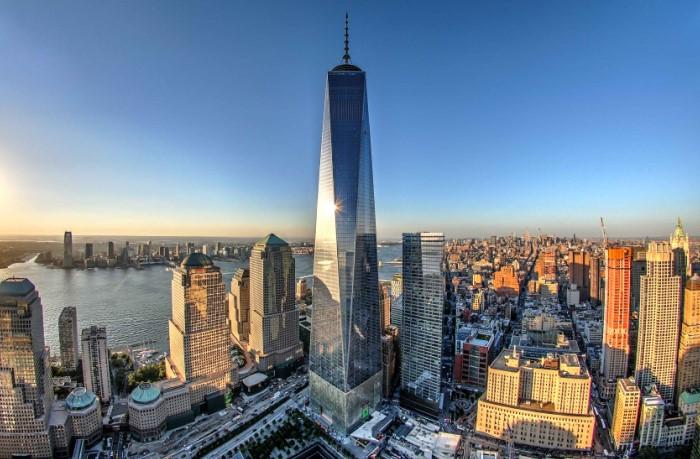 Башня Свободы - одна из семи небоскребов в Финансовом квартале Манхэттена / Фото: listelist.com