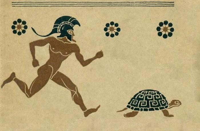Древнегреческий воин никогда не обгонит медлительное животное, если в начале бега оно будет впереди / Фото: i.ytimg.com