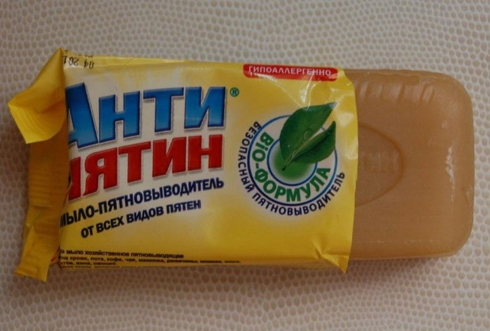Для выведения крови подойдет и дешевое средство вроде «Антипятина», и Vanish, Amway / Фото: poradum.com.ua