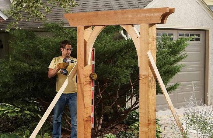 Садовая арка своими руками - это просто
