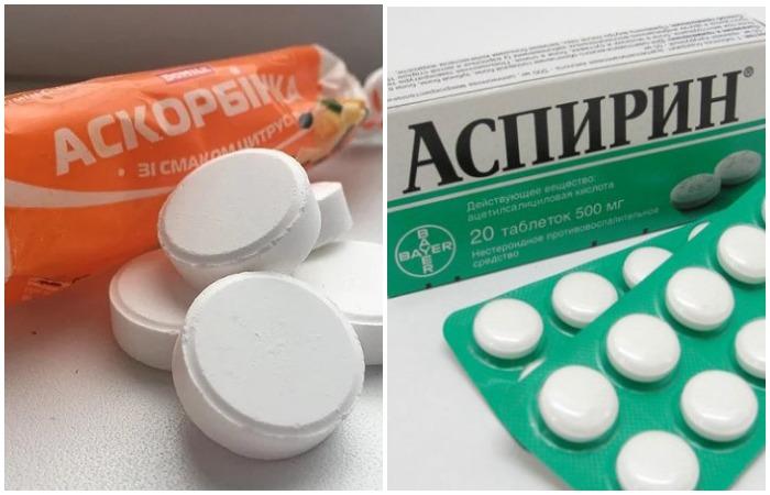 Средство из аскорбинки или аспирина оказывает обеззараживающий эффект