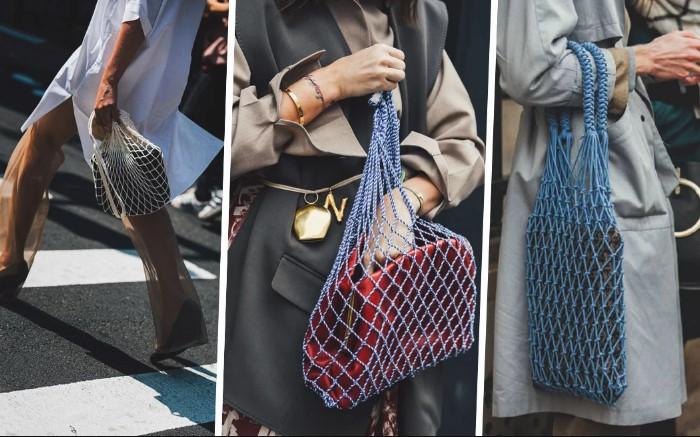 Модницы носят в авоськах сумочки и сочетают их со стильными нарядами / Фото: cdn-1.heroine.ru