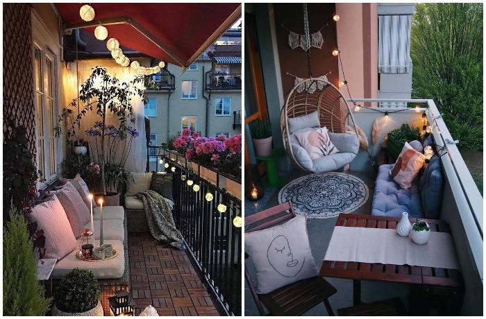 Любимый декор итальянцев - настенные светильники или гирлянды-фонарики