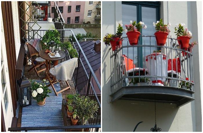 Поляки выносят на балконы цветы в горшках и ставят садовую мебель
