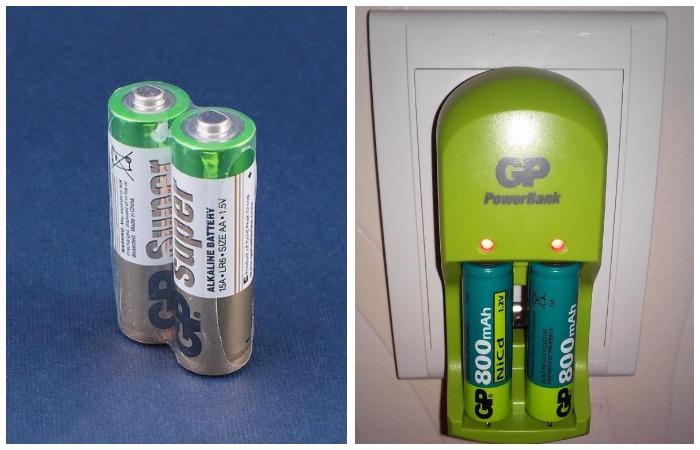 Аккумуляторы с зарядным устройством можно использовать до 500 раз