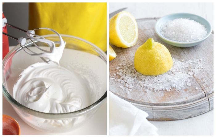 Лимонный сок или щепотка соли ускорят процесс взбивания