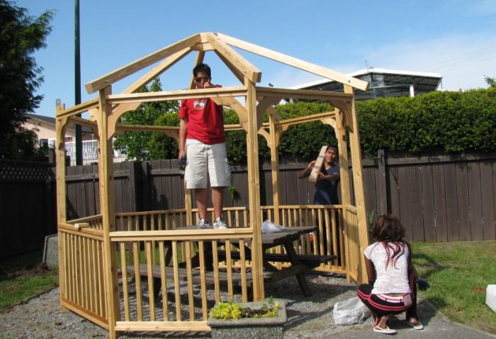 Заранее определитесь, для каких целей и количества человек нужна беседка и только потом приступайте к строительству / Фото: cdn.kafgw.com