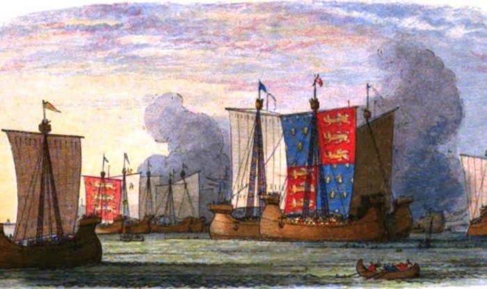 Англия нанесла Франции сокрушительный удар, затопив большую часть кораблей, а вместе с ними и людей / Фото: upload.wikimedia.org
