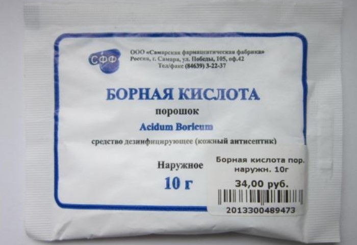 Борная кислота в порошке изгонит нежелательных соседей, но не убьет / Фото: i.otzovik.com