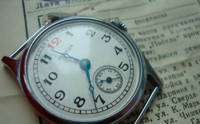 Часы выпустили в память о Великой Победе советского народа.