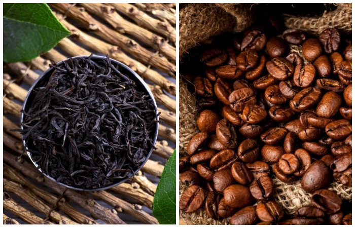Черный крупнолистовой чай и зерновой кофе хранятся около 3 лет