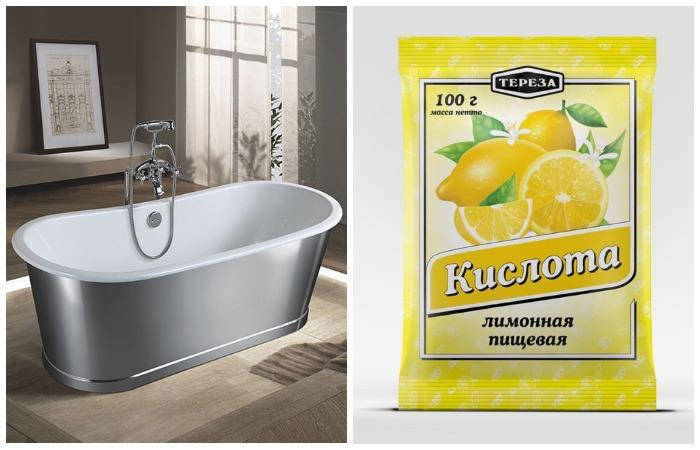 Лимонная кислота эффективно растворит загрязнения