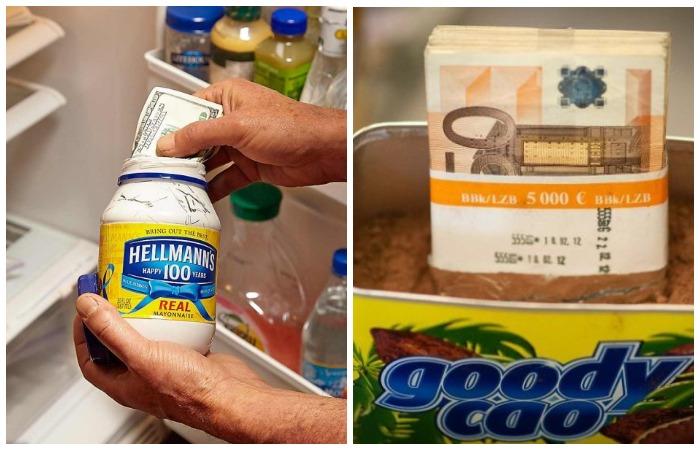 На кухне много вариантов, где можно хранить деньги