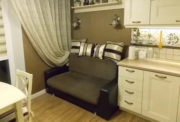 Позаботьтесь, чтобы на кухне был уютный уголок / Фото: dizainvfoto.ru