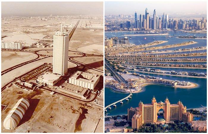 Глядя на Дубай, сложно поверить, что буквально 50 лет назад на его месте был маленький городок и бескрайняя пустыня