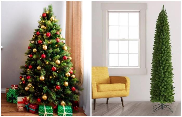Классическая или узкая елка - все зависит от размера помещения