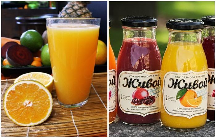 Фреш и сок прямого отжима содержат больше всего полезных веществ