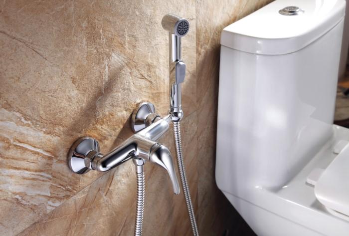 Выглядит он как ручная лейка на шланге, а используется, чтобы подмываться после похода в туалет / Фото: gidroguru.com