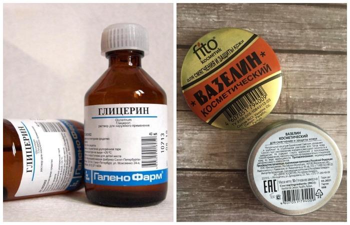 Глицерин, вазелин или касторовое масло помогут размягчить и увлажнить искусственную кожу