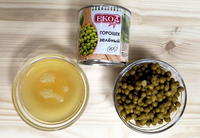 Горошек находится в аквафабе - непрозрачном и вязковатом отваре, использующемся для консервации  / Фото: i.uralweb.ru