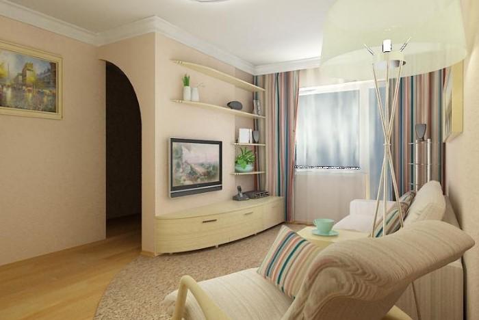 Светлый цвет визуально расширяет помещение и добавляет уюта / Фото: feminissimo.ru