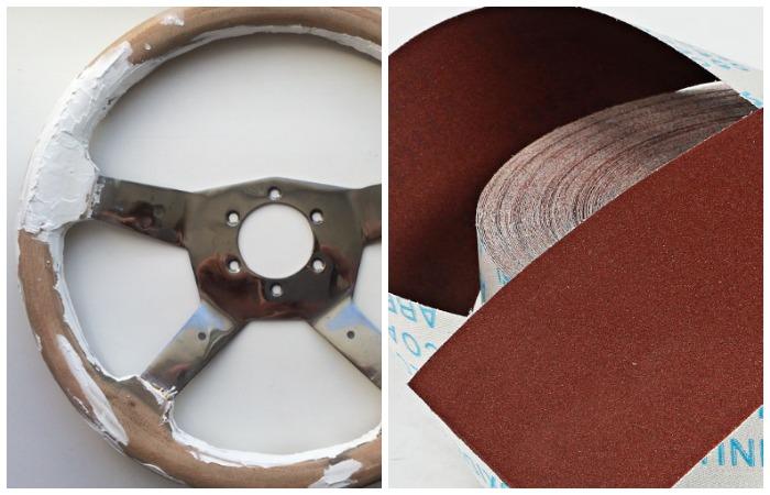Выровняйте грунтовкой все изъяны, а затем отшлифуйте поверхность наждачной бумагой