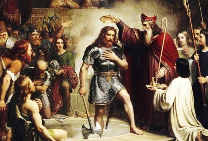 В отчаянии Хлодвиг I взмолился Иисусу Христу и пообещал, что примет христианство, если одержит победу / Фото: i.ytimg.com