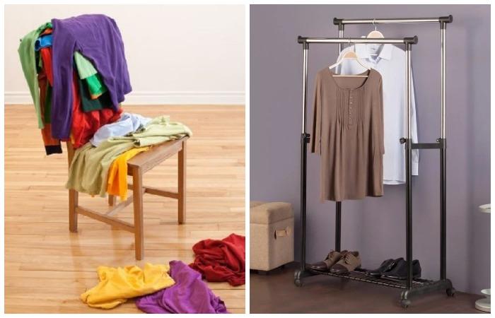 Есть более практичные и стильные варианты хранения одежды, кроме стула