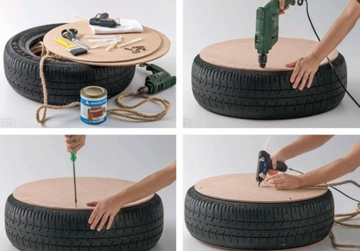 Сделать пуфик своими руками просто / Фото: handiwork.info