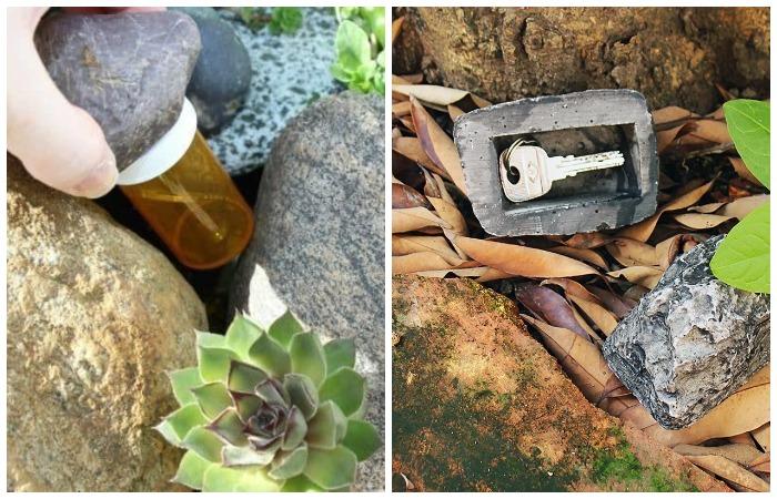 Несколько вариантов с садовыми камнями