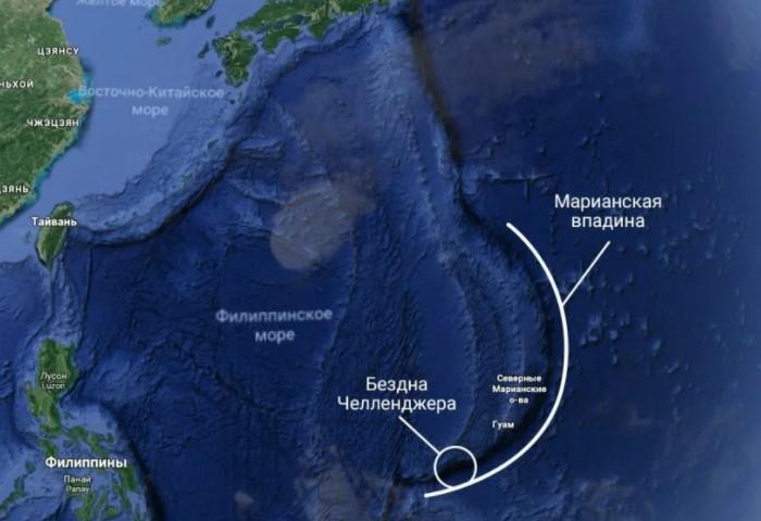 В крайне точке, «Бездне Челленджера», глубина составляет 10 028 метров ниже уровня моря / Фото: idealtourist.ru