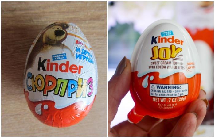 Специально для США компания Ferrero создала лакомство Kinder Joy с учетом всех требований