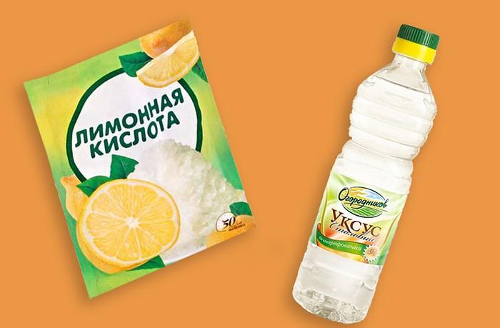 Лимонная кислота и уксус помогут выявить мел в составе молока / Фото: glav-dacha.ru