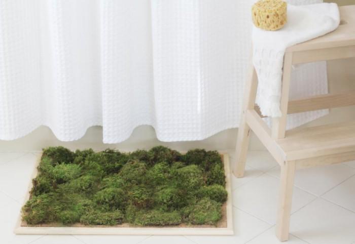 Зачем нужен живой коврик для ванны из мха, плюсы и минусы изделия