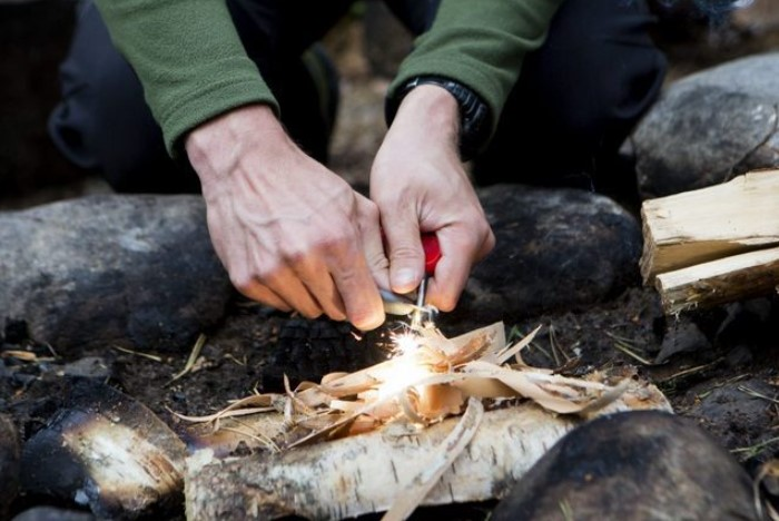 Для розжига можно задействовать мох, грибы, любые ткани, бересту / Фото: zefirka.net