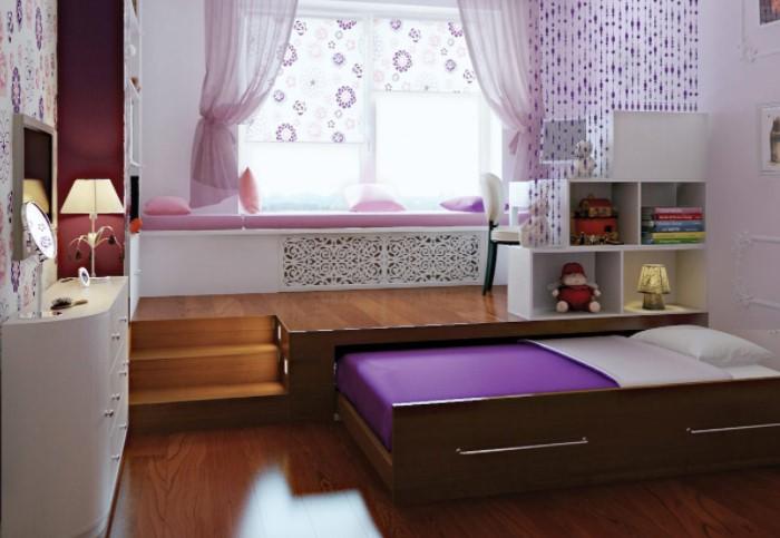 Спальное место легко выдвинуть и задвинуть при необходимости / Фото: severdv.ru