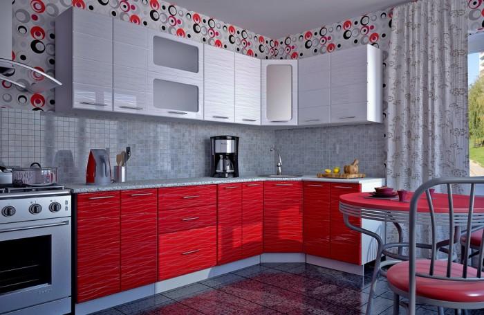 Чем больше на кухне открытых полочек, ниш, рейлингов и декора, тем больше мест для пыли / Фото: mebel41.ru