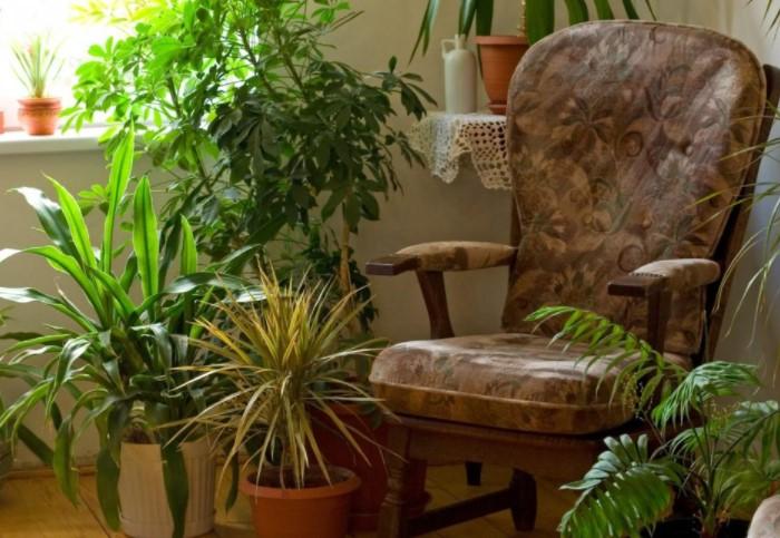 Другой вариант - поставить кресло, столик и представлять себя на отдыхе в загородном доме / Фото: pobetony.ru