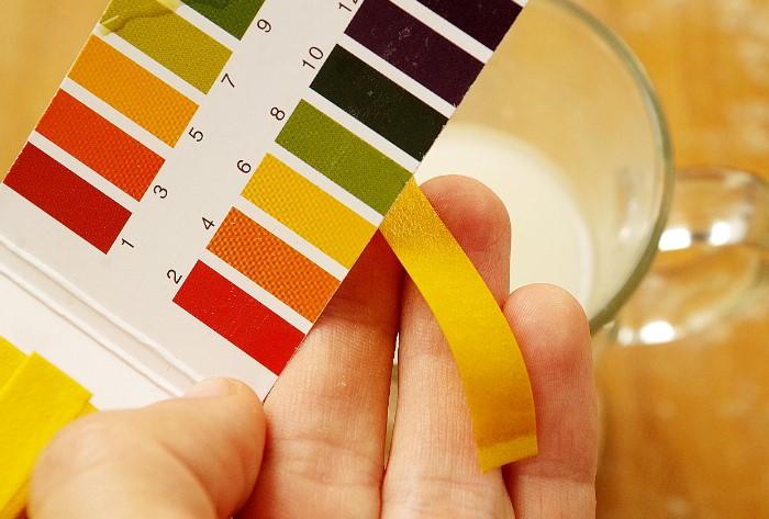 Синий оттенок лакмусовой бумаги - показатель соды в составе / Фото: static-eu.insales.ru