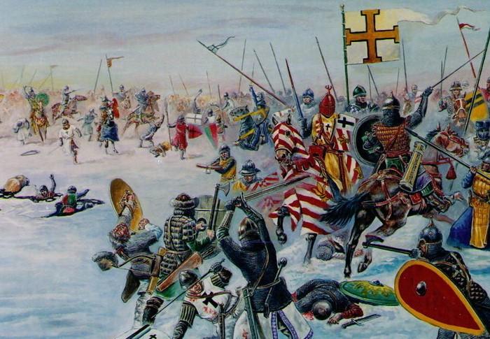 Битва длилась до поздней ночи  и завершилась победой войска Александра Невского / Фото: libkids51.ru
