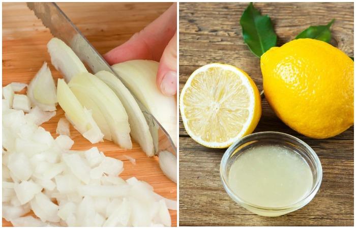 Лимонно-луковая смесь хороша для светлых вещей