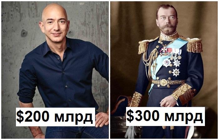 Состояния современных миллиардеров не сравнятся с достатками богачей прошлого
