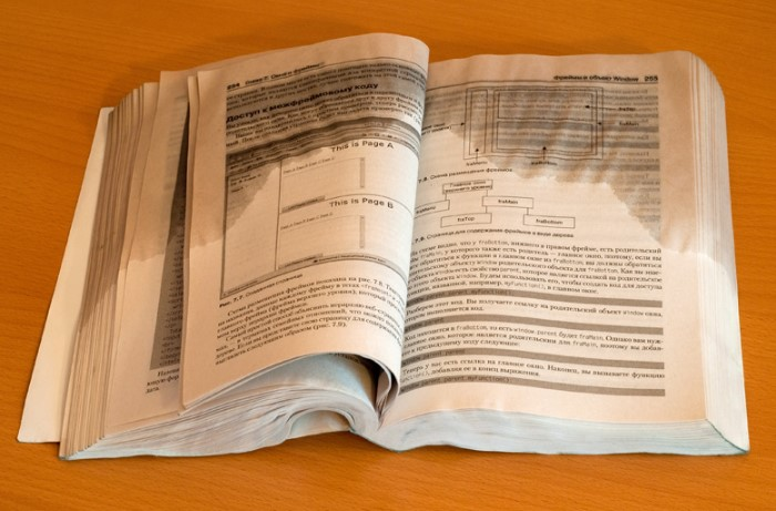 Если намочили книгу, переложите мокрые страницы бумагой для выпекания / Фото: murzix.ru