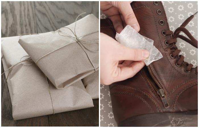 Оберните ткани в пергаментную бумагу и натрите заедающую молнию